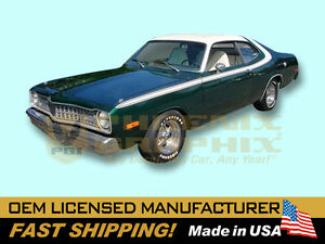 1973 1974 Dodge Dart Sport Over Roof Tail Panel Complete Decals Stripes Kit