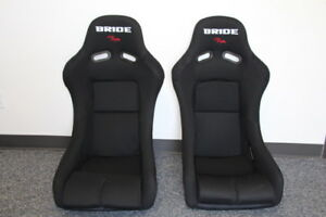 Bride Vios Black Cloth Frp Racing Seat Honda Miata Pair Zieg Gias Zeta Cuga