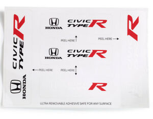 Genuine Oem Honda Civic Type R Decal Set Black White Sticker Stickers