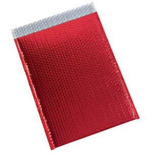 13 x17 1 2 Red Glamour Bubble Mailer 100 Pack Lot Of 1