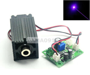 Focusable Dot 405nm 200mw 12v Violet blue Laser Diode Module W ttl