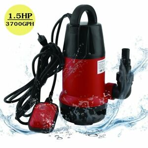 1100w Submersible Sump Pump W 25 Ft Cord 1 5hp 3700gph Water Sub Pump Empty Pool