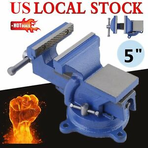 5 Heavy Duty Bench Vice 125mm Jaw Width Workshop Clamp Heavy Duty Table Vise Bp