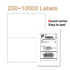 200 10000 Labels 8 5x5 5 Half Sheet Self Adhesive Shipping Label For Usps Ebay R