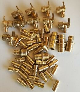 Uponor wirsbo 50 Pcs 1 2 Brass Drop Ear Elbow Adpter
