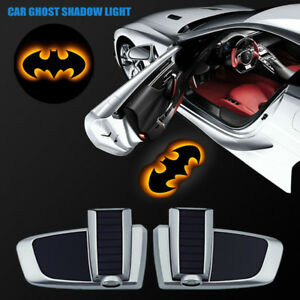 Chargeable The Dark Knight Batman Car Door Logo Led Projector Ghost Shadow Light