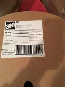 New 3m 2 300 Clear Heat Shrink Flexible Polyolefin Tubing Shrinkable Fp 301