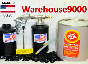 Fluid Film W pro Undercoating Gun 2 Empty Bottles 2 Pro Spray Wands