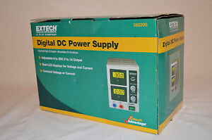 Extech 382200 Dc Power Supply Dc Regulated 1 Amp 30v Single Output New open Box