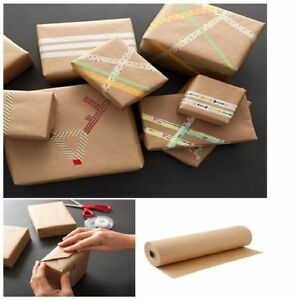 Jumbo Brown Kraft Paper 2 Roll Wrapping Sheets 30 1800 Inch 150 Ft Gift Packing