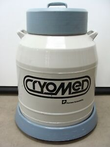 Forma Scientific Cryomed 8033 Dewar Liquid Nitrogen Tank W 8 Canisters