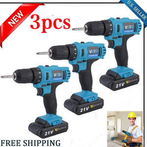 3x 18v Lithium ion Cordless 1 4 Hammer Driver drill 1 4 Hex Hand Power Tool Bp