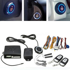 Immobilizer Rfid Car Entry Security System Keyless Start Stop Push Button Remote