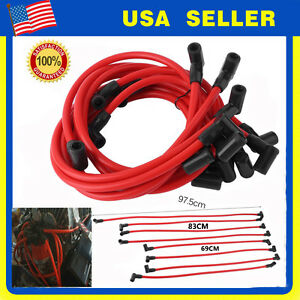 High Performance Hei Spark Plug Wires Set 10 5mm Chevy Sbc Bbc 350 400 454 8pc B