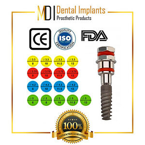 25 Mdi Spiral Dental Implant Supply Internal hex System Sterile For Direct Use