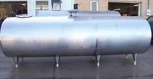 Delaval 2500 Gallon Stainless Steel Bulk Milk Tank 72323
