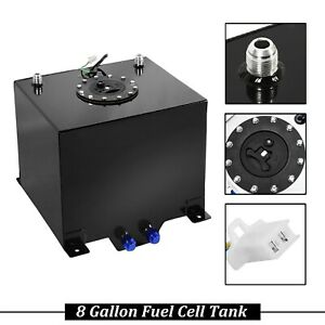 Aluminum Racing Sender Drift Fuel Cell Gas Tank W Polished 8 Gallon 30 5l Level