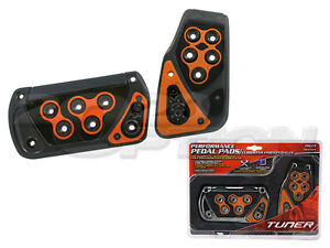 Gunmetal Orange Automatic Brake Gas Pedal Pads For Is250 Is350 Fr s Supra Tundra