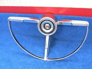 1963 Ford Galaxie 500 Xl Steering Wheel Horn Ring 1217