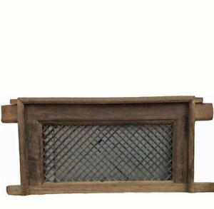 Antique Chinese Screen Window With Mounting Frame
