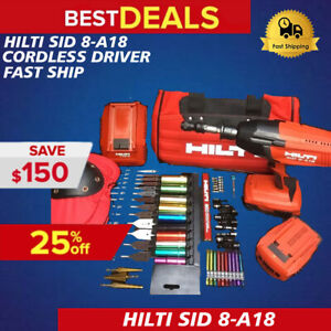 Hilti Sid 8 a18 Cordless Driver New Free Bits Extras Complete Set fast Ship