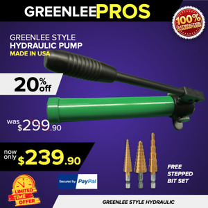 Greenlee 767 Hydraulic Style Hand Pump Brand New Ready To Work Fast Shipping