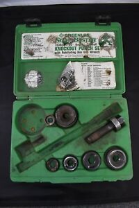Greenlee 7238sb Slug Buster 1 2 Thru 2 Ratcheting Knockout Punch Kit Agow
