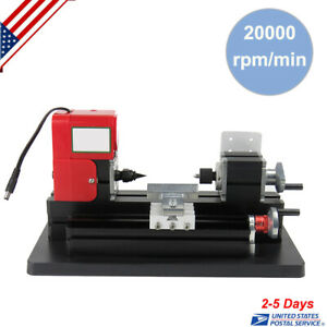 Mini Metal Working Lathe Motorized Machine Diy Tool Metal Woodworking Us Ship