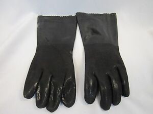 Lot Of 8 Pair Protective Gear Rubber Gloves Textured Palm Pvc Large New x2