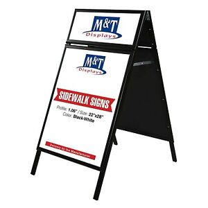 Metal Frame Write on Sandwich Board For Wet Dry erase Marker 2 sided 22x28