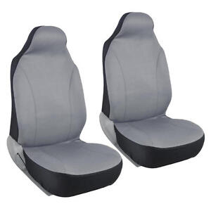 Car Seat Covers High Back Bucket Fit Mesh Polyester Pair For Front In Gray