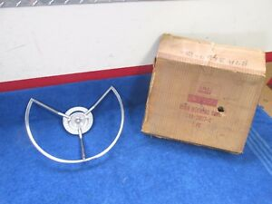 1959 Ford Fairlane 500 Manual Steering Wheel Horn Ring Nos Ford 1217