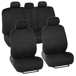 Car Seat Covers For Ford Focus 2 Tone Color Black W Split Bench