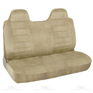 Truck Front Bench Seat Cover Beige Regal Velour Fabric Fitted