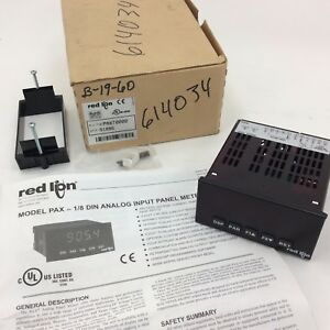 Red Lion Paxt0000 1 8 Din Analog Input Panel Meter New