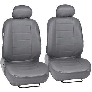 Prosynthetic Gray Leather Auto Seat Covers For Honda Civic Sedan Coupe