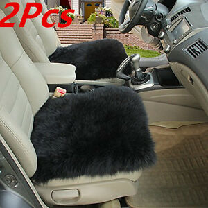 2xcar Seat Breathable Warm Soft Covers Chair Cushion Genuine Sheepskin Long Wool