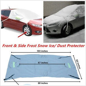 Car Windscreen Windows Mirror Front Side Frost Snow Ice Dust Protector Cover