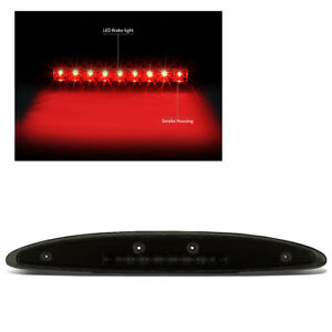 For 97 02 Ford Expedition Rear Tail Mount Led 3rd Brake stop Light Black Smoke