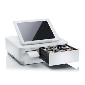 Star Mpop Tablet Stand Cash Drawer And Printer White 39650011