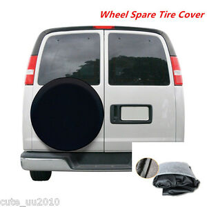 Car Suv Completely Black 15 Inch Wheel Spare Tire Cover Heavy Duty Vinyl Size M
