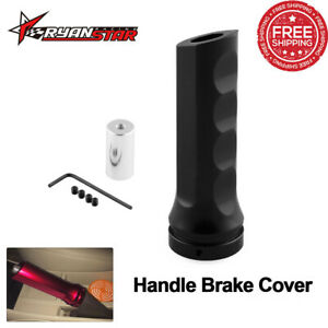 Black Aluminum Handbrake Sleeve E Brake Car Handle Brake Cover Side Universal