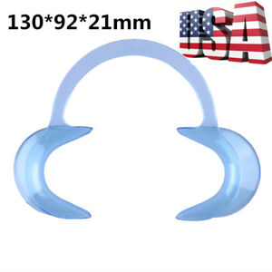 200pcs Dental Teeth Whitening Mouth Opener Cheek Retractor C Type L Size Blue
