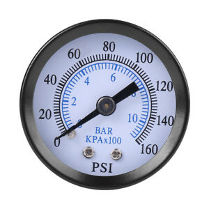Mini Pressure Gauge For Fuel Air Oil Water 0 160psi 0 10bar 1 8 Npt Thread Sg