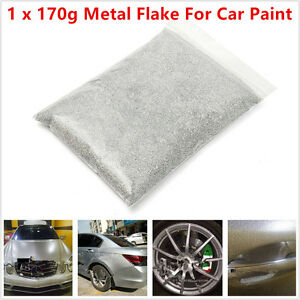 6oz 170g Silver Metal Flake 0 4mm 0 016 For Car Auto Paint Additive Universal