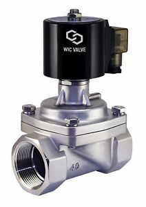 1 1 4 Inch Stainless Zero Differential Electric Steam Solenoid Valve Nc 24v Ac