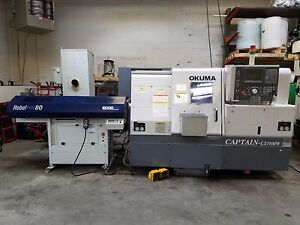 Okuma Captain L 370mw Live Tools Sub spindle Cnc Turning Center Loaded W extras