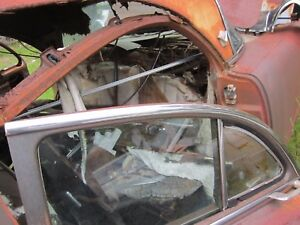 55 Packard 4 Door Left Rear Upper Door Window Roofline Trim Molding 1955
