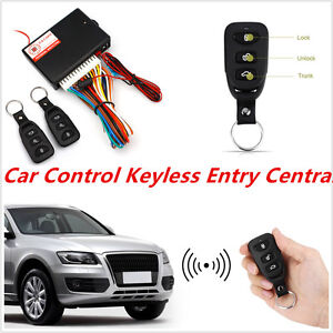 Car Auto Central Lock Unlock Car Remote Control Conversion W 2 Keyless Entry