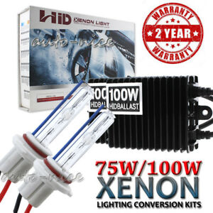 Ac 100w 75w 55w Xenon Headlight Hid Conversion Kit 9006 Hb4 Super Bright Light